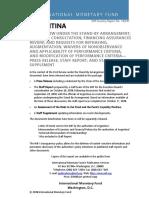 El FMI reconoció que el apoyo de Pichetto fue central para el acuerdo