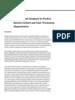 Sorghum Poultry Feeding Handbook