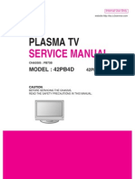 Service Manuals LG TV PLASMA 42PB4D 42PB4D Service Manual