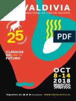 Catálogo FICValdivia (Festival Internacional de cine de Valdivia). 2018