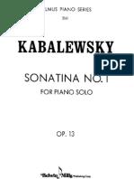 Kabalevsky - Sonatina in C Op. 13 No. 1
