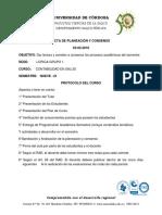 Acta de Planeacion y Consenso- Control Interno