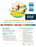 Plan de Acción Comunitario Para Trabajar Las Metas Globales