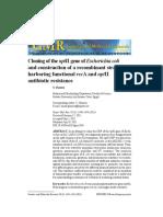 Cloning of the NptII Gene of Escherichia Coli