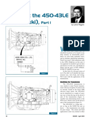 AW450 43LE Manual | Mechanical Engineering | Vehicle TechnologyScribd