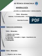 Introducción a la mineralogía y cristalografía