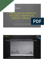 1. ORIGEN DE LOS DEPÓSITOS DEL SUELO, TAMAÑO DE GRANO Y ARCILLAS.pdf