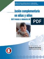 Alimentación complementaria en niñas y niños