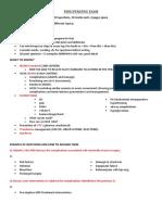 Perioperative - Semester Summary