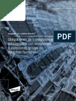 Informe de cumplimiento de obligaciones de transparencia relacionadas con violaciones y violaciones graves de derechos humanos
