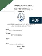 1.1.1 Evaluación de Tres Tipos de Empadre de Cuyes Con La Utilización de Tres Líneas Productivas (Perú y Andina) Con Diferentes Número de Hembras Por Macho