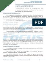 Ato Administrativo Classificação Dos Atos Administrativos - 003359