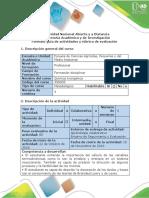 Guía de Actividades y Rúbrica de Evaluación - Tarea 4 - Realizar Ejercicios Termodinámica Química y Equilibrio Químico