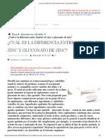 ¿Cuál Es La Diferencia Entre Quelato de Zinc y Gluconato de Zinc