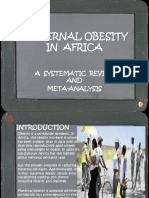 Maternal Obesity in Africa