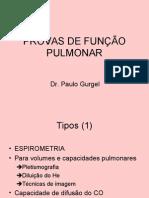 PROVAS DE FUNÇÃO PULMONAR