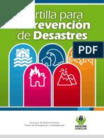 Cartilla de prevención de desastres