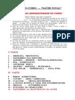 Curso saúde total - IASD