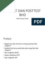 Pretest Dan Posttest Bhd Non Medis