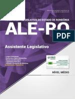 Apostila - Assembleia Legislativa - RO - ALE-RO - Assistente Legislativo - Nova Concursos - 2018