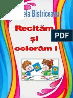 Carte De Colorat Recitam Si Coloram