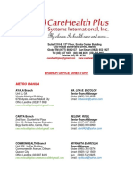 Branch Directory Carehealthplus