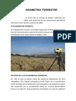 Introduccion a La Fotogremetria Terrestre