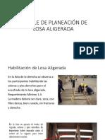 Detalle Planeacion Losa Aligerada.pptx