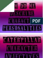 caterpillar character adjective alphabet