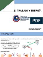 Capítulo 5 - TRABAJO Y ENERGÍA