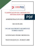 OscarRodriguez_31121727_Tarea-06_Clasificacion de Cartera Del Sistema Bancario