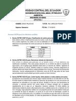 Normas ASTM Para Los Distintos Análisis