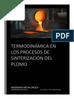 Monografia Del Proceso de Sinterización de Plomo