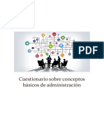 Cuestionario Sobre Conceptos Básicos de Administración