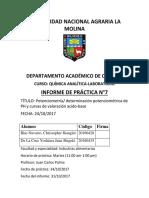 Informe 7Laboratorio Qumica Analitica