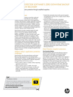 HP Data Protector Software ZDBIR Datasheet