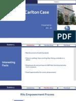 Carl Ritz - Case Solution