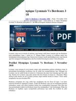 Prediksi Olympique Lyonnais vs Bordeaux 3 November 2018