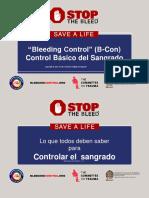 Bleeding Control Basic Presentation in Spanish Sept42017