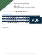 Fgv 2014 Susam Medico Veterinario Gabarito