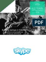 Building startups in Estonia