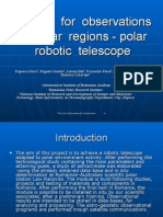 Module for  observations in  polar  regions - polar robotic  telescope