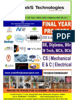 Ieee 2018-2019 Electrical (Eee) Projects Abstracts