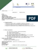 Proiect Diactic Ed. Religioasă Pilda Samarineanului Milostiv