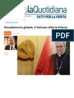 Riscaldamento Globale, Il Vaticano Sfida La Polonia