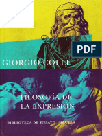 COLLI, Filosofía de la expresión copia