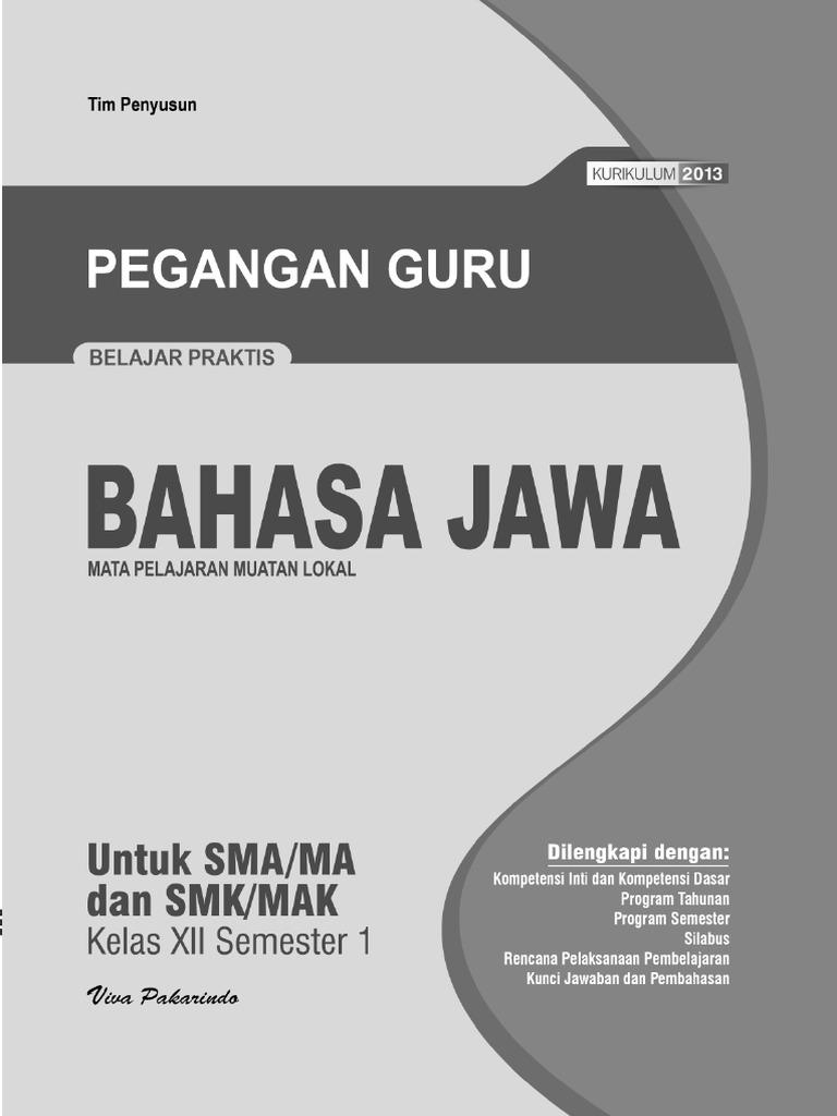 Materi Bahasa Jawa Kelas 12 Semester 1 K13 Guru Galeri