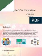 1.- Investigación Educativa