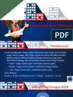 Presentasi Analisis Harga Satuan Pekerjaan
