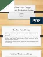 Ex Post Facto Design Present